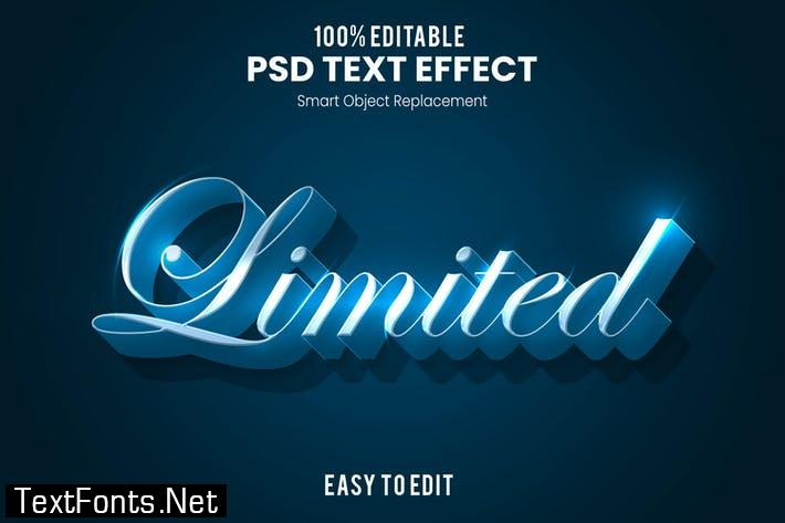 Limited - Elegant 3D PSD Text Effect