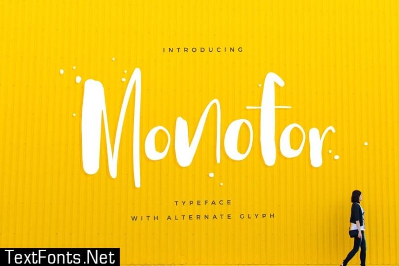 Monofor Typeface