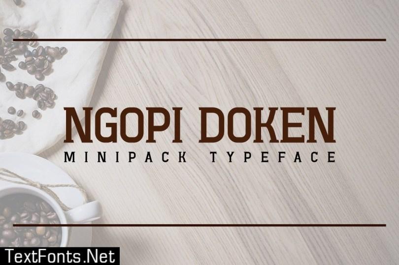 Ngopi-Doken Minipack Typeface 509589