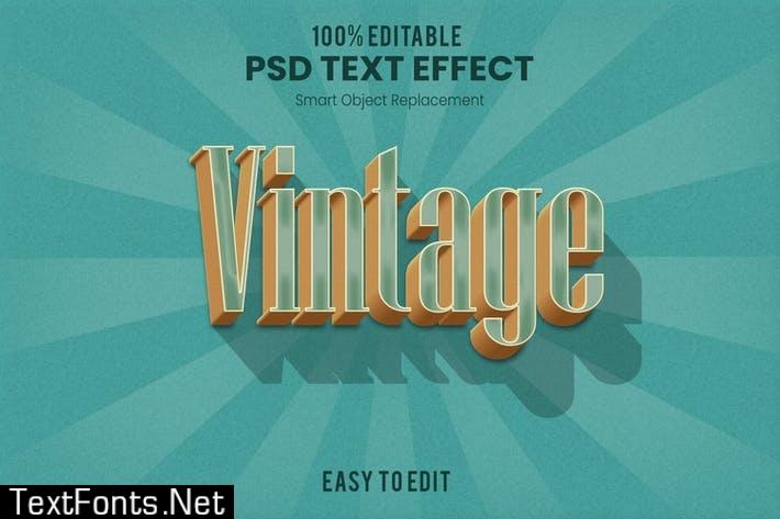 Retro 3D Text Effect 2KAWTG8
