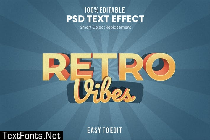Retro Vintage 3D Text Effect 2V4UQF8