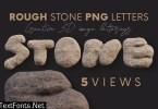 Rough Stone - 3D Lettering