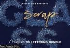 Scrap Glass – 3D Lettering