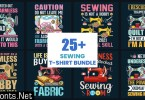 Sewing T-Shirt Design Bundle 1