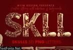 Skulls & Bones - 3D Lettering