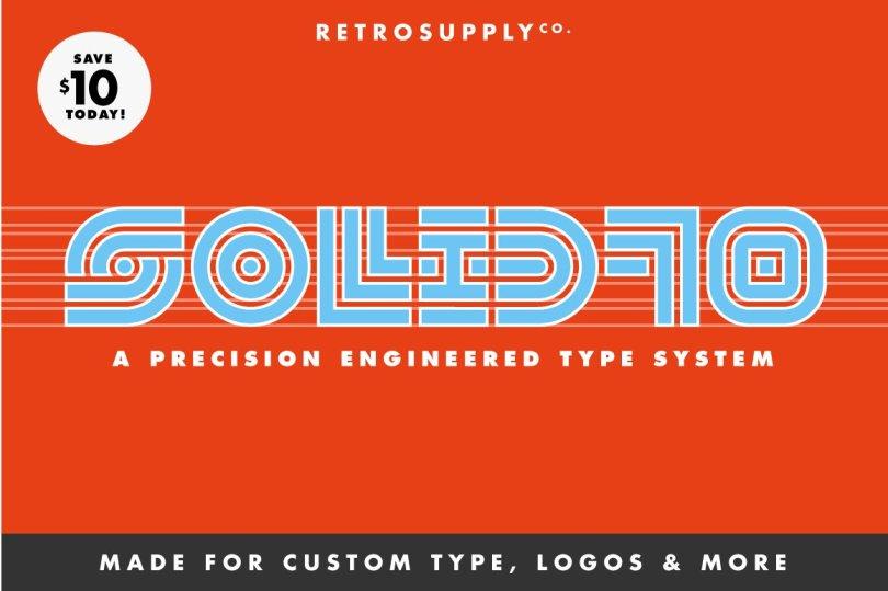 SOLID70 | Retro Geometric Font