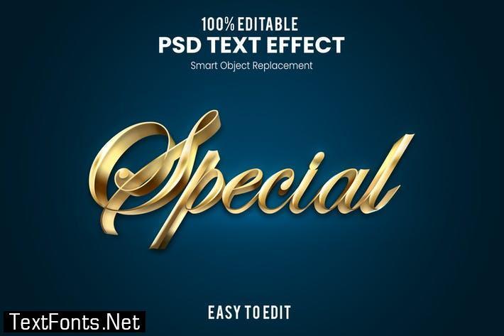 Special - Elegant 3D PSD Text Effect