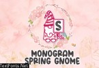 Spring Gnome Monogram  Font