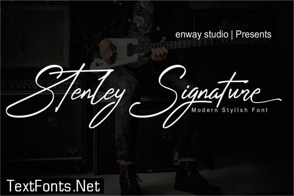 Stenley Signature Font