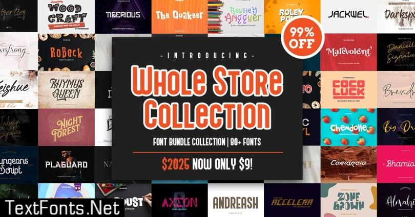 Whole Store Fonts Bundle Collection