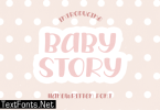 Baby Story Font