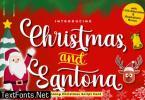 Christmas and Santona Font