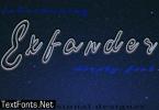 Exfander Font