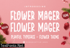 Flower Mager Font