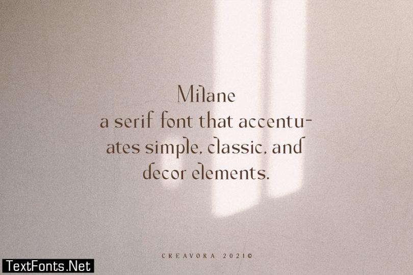 Milane - Classic Serif Font