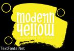 Modern Yellow Font