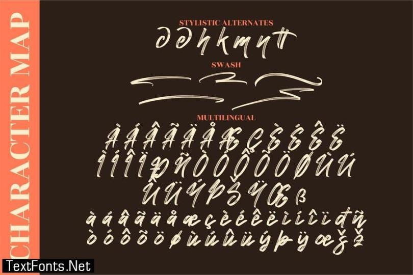 Namashte Brush Font LS