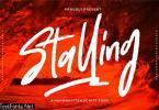 Stalling | A Handwritten Script Font