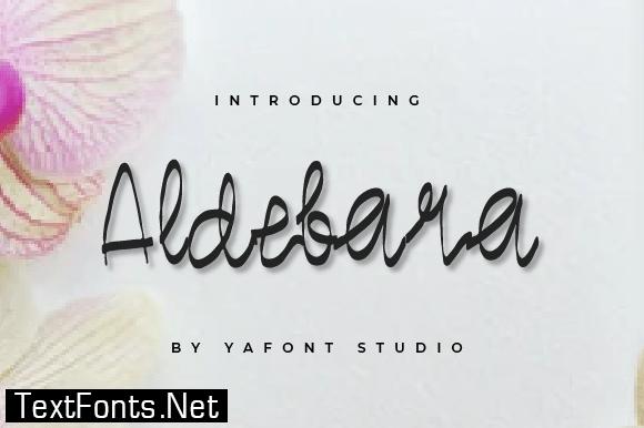 Title Aldebara Font