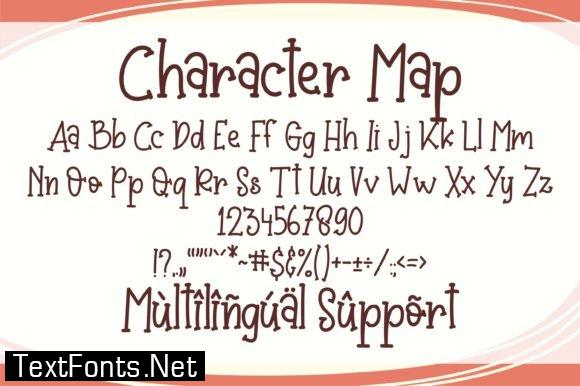 Title Baby Crab Font