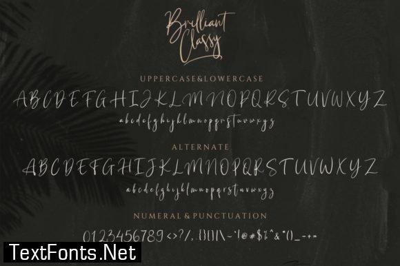 Title Briliant Classy Font
