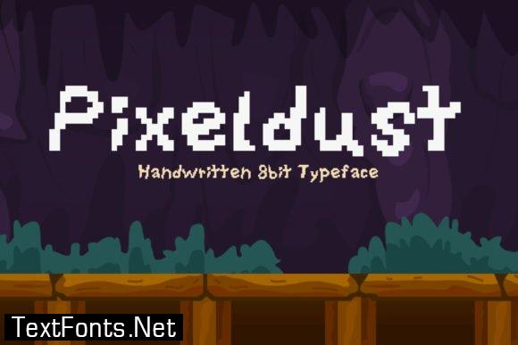 Title Pixeldust Font