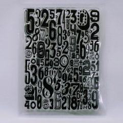 Textielverf en meer stempel 7x10cm cijfers
