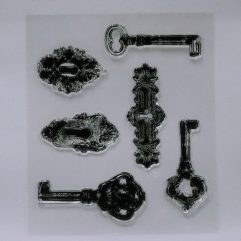 Textielverf en meer stempel 9x11 sleutel