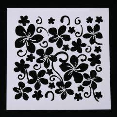 Textielverf en meer stencil 13x13cm bloemen