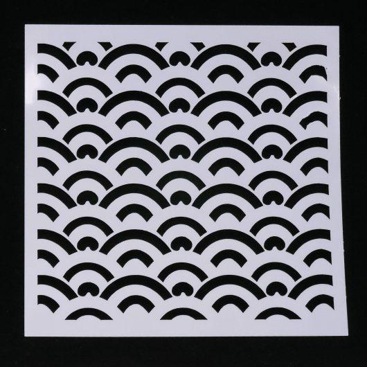 Textielverf en meer stencil 13x13cm bogen