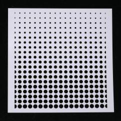 Textielverf en meer stencil 13x13cm dots