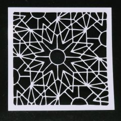Textielverf en meer stencil 13x13cm driehoekster