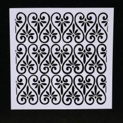 Textielverf en meer stencil 13x13cm hartenbloemen