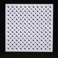 Textielverf en meer stencil 13x13cm traanplaat