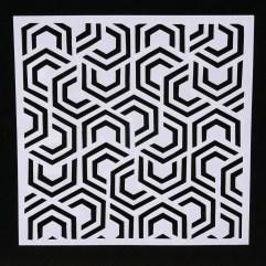 Textielverf en meer stencil 15x15cm halve hexagonen