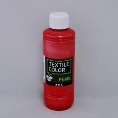 Textielverf en meer Textile Color Pearl rood 250ml
