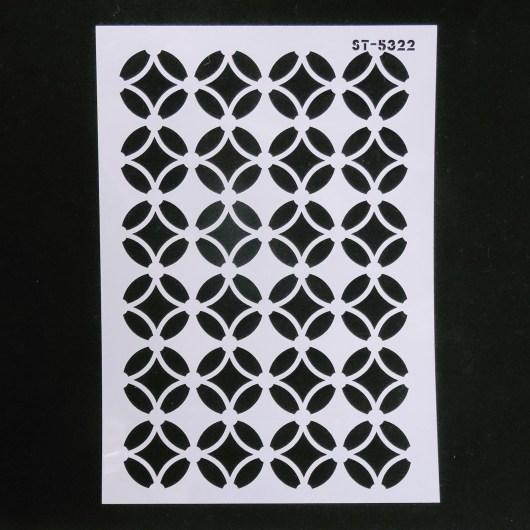 Textielverf en meer stencil 21x29 cirkelpatroon