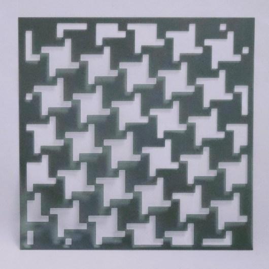 Textielverf en meer stencil 15x15cm pied-de-poule