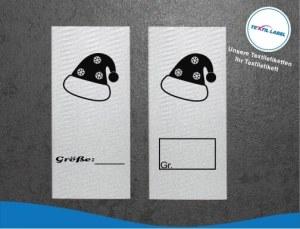 Textiletiketten mit Mütze Größenetikett Textiletiketten für Größenbeschriftung