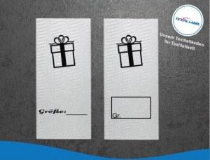Textiletiketten mit Geschenk Größenetikett Textiletiketten für Größenbeschriftung