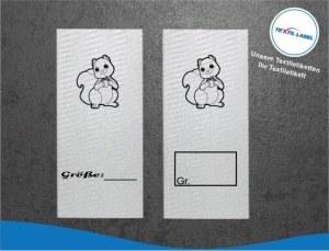 Textiletiketten mit Eichhörnchen Größenetikett Textiletiketten für Größenbeschriftung