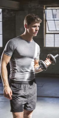 t shirt moulant fitness homme