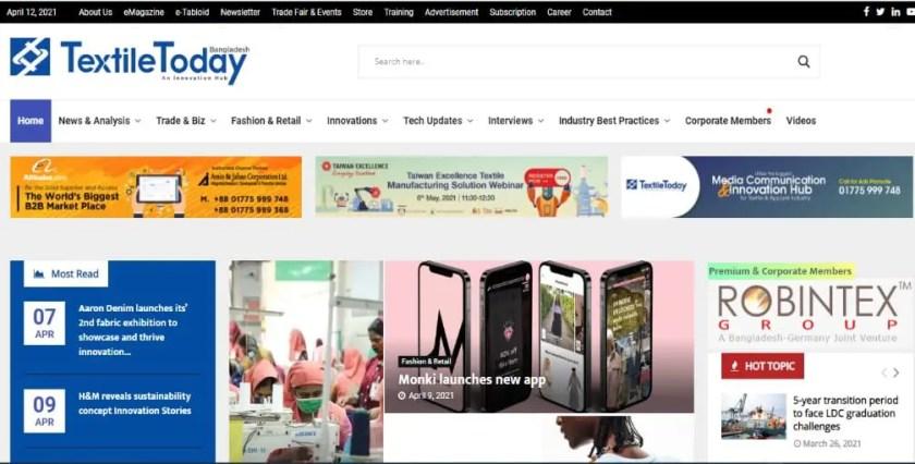 4. Best Textile Websites: Textile Todday