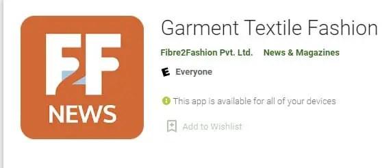 Garment Textile Fashion News Apps