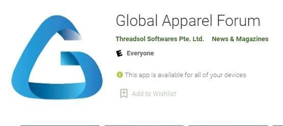 Global Apparel Forum textile apps