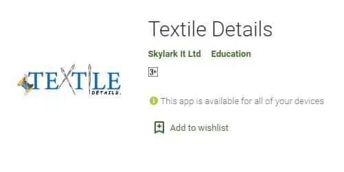 Textile Details best textile apps