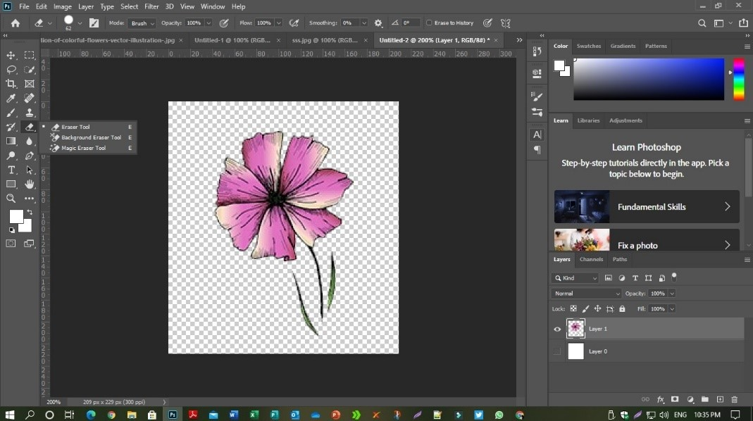 Remove Background from you textile design
