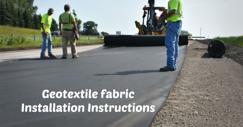 Geotextile fabric installation instructions