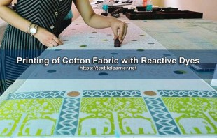 Printing of Cotton with Reactive Dyes