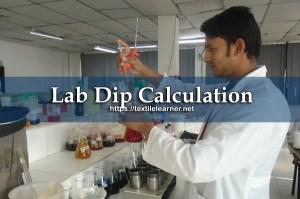 lab dip calculation
